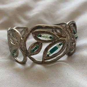 Silpada Silver Cuff Turquoise Bead Bracelet
